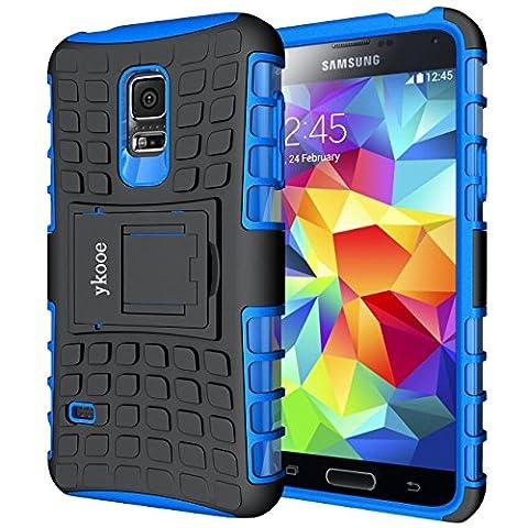 Galaxy S5 Mini Hülle, ykooe (TPU Series) S5 Mini Dual Layer Hybrid Handyhülle Drop Resistance Handys Schutz Hülle mit Ständer für Samsung Galaxy S5 Mini