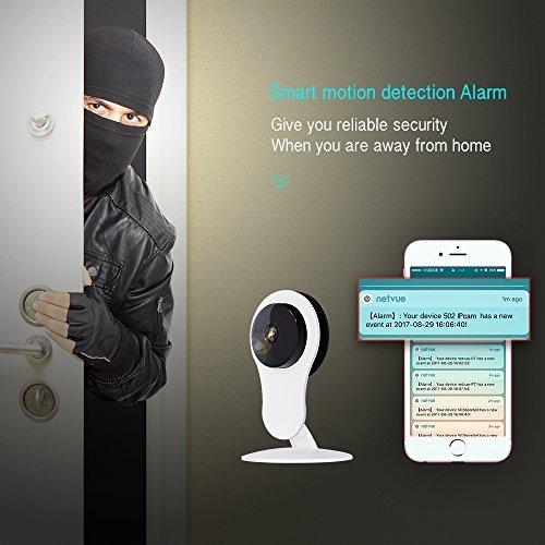 netvue cam ra de surveillance hd 720p syst me de s curit cam ra ip avec alarme de d tection de. Black Bedroom Furniture Sets. Home Design Ideas