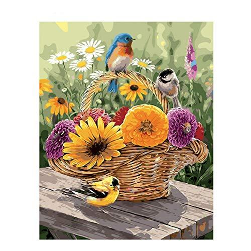 Waofe Fleur Bouquet Handgemachte Farbe Hochwertige Leinwand Schöne Malen Nach Zahlen Überraschungsgeschenk Große Leistung No Frame -