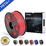 SUNLU 3D Drucker Filament Rot PETG, Rot PETG Filament 1,75 mm, Geringe Geruch Dimensionsgenauigkeit +/- 0,02 mm 3D Druck Filament, 2,2 LBS (1 KG) Spule 3D Drucker Filament für 3D Drucker & 3D Stifte, Rot