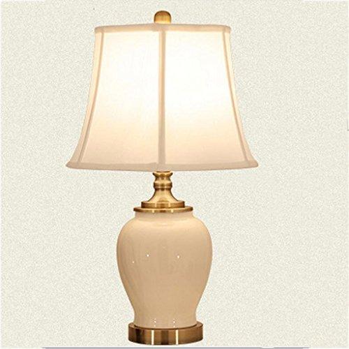 Preisvergleich Produktbild Xuan - worth having Schreibtischlampe Tischleuchte Tischlampe Keramik und Tuch weiße Farbe
