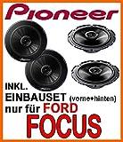 Ford Focus MK1 - Lautsprecher Pioneer für vorne und hinten - Einbauset