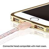 Lightning Kabel - 2m, Pink, Neustes Design- Sehr schnelles iPhone 7 Ladekabel - verstärktes USB Datenkabel mit Knickschutz - Für Apple iPhone 7 6 5, iPad, iPod - SWISS-QA Geldrückgabe Garantie - 5