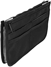 Casemetic PC05 Mini Travel Makeup Bag Purse Organizer With 2 Zippered Closure Pouches And 8 External Pockets,...