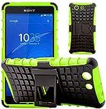 G-Shield Hülle für Sony Xperia Z3 Compact Stoßfest Schutzhülle mit Ständer - Grün