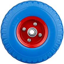 2X PU ruota carriola ruota 260mm Carretto pneumatici in gomma ruota di scorta 3.00–4a prova di guasto
