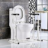 Toilette per WC, servizi igienici per gli anziani Bracciolo per WC Installazione gratuita Recinzione da toilette Corrimano Corrimano per WC Supporto per braccio