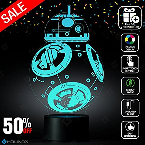 BB8 Lamp, Decoration lamp, 7 Color Mode, Awesome gifts