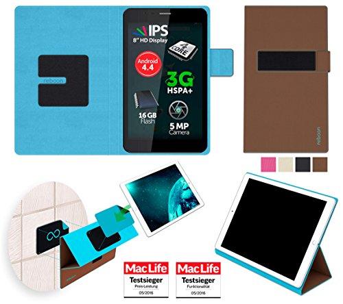 reboon Hülle für Allview Viva H8 Plus Tasche Cover Case Bumper | in Braun | Testsieger