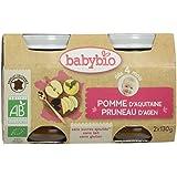 Babybio Pots Pomme d'Aquitaine Pruneau d'Agen 260 g - Lot de 6