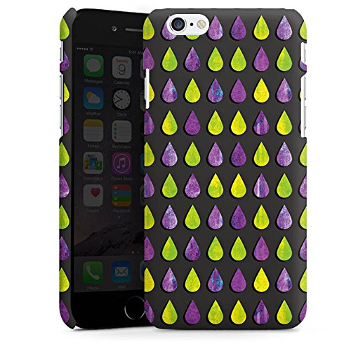 Apple iPhone X Silikon Hülle Case Schutzhülle Regen Tropfen Muster Premium Case matt