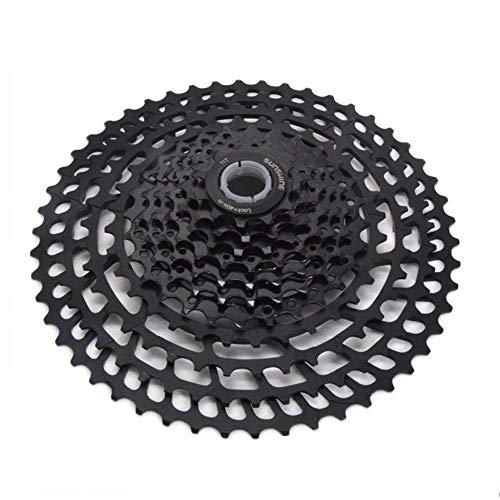 Hyperglide kassette Mountainbike-Schwungrad 11 Geschwindigkeit 33 Geschwindigkeit 11-50 Zähne Volle hohle 365g-Karte Schwungrad-Geschwindigkeitsänderungsgetriebe ( Farbe : Schwarz , Größe : 11-50T ) -