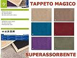 Olivo Tappeti Teppich Magische Fußmatte Super Saugfähig Rutschfeste Waschbar 50x 90grau