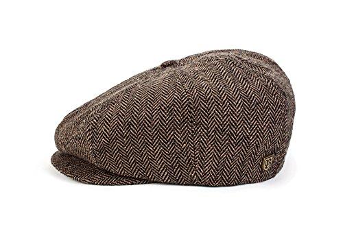 Brixton Unisex Mütze Brood BROOD  brown/khaki herringbone, M BRIMCAPBRO