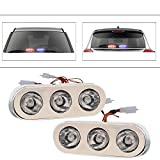 #3: Vheelocityin 3 LED Red and Blue Police Flasher Style DRL Fog Light