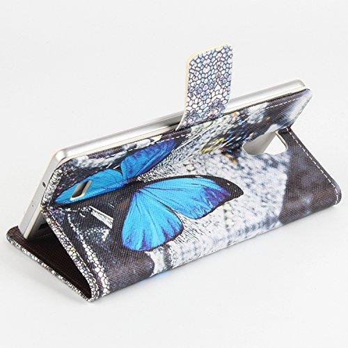 Baiwei Easbuy Bunt Pu Leder Kunstleder Flip Cover Tasche Handyhülle Case für Cubot P11 Smartphone (Side Open mit Halterung Design, Mode 1)