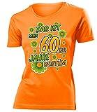 60er Jahre Kostüm Kleidung 791 Damen T-Shirt Frauen Karneval Fasching Faschingskostüm Karnevalskostüm Paarkostüm Gruppenkostüm Orange L