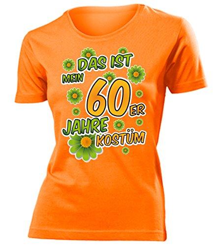 60er Jahre Kostüm Frauen T-Shirt Karneval Fasching Motto Schlager Party Geschenke Schlagertshirt Kleid Kleidung Schlagerhemd Schlagerfanartikel