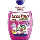 Licor del Polo Junior - Dentífrico + Enjuague 2 en 1 - para +6 años con sabor de fresa - 75 ml