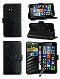 For Microsoft Lumia 640 / Dual SIM / LTE 4G - Carbon Fibre