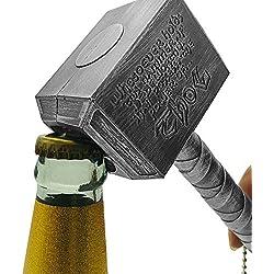 snaked cat Ouvre-Bouteilles Thor Ouvre-Bouteilles, ouvre-Bouteille 3D créatif Thor Hammer avec Un Design magnétique pour réfrigérateur