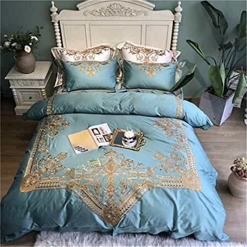 BAIF 800TC Egyptain Cotton Königin King Size Weiß Bettwäsche Set Stickerei Bettbezug Bettgarnitur Spannbetttuch Set Farbe 5 Queen Size 4 Stück Spannbetttuch Style -