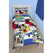 "Character World 91 cm para cama individual Disney ""Mickey Mouse Polaroid"" juego de cama reversible, Multi-color"