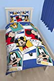 Character World Disney 91 cm 'Polaroid' Mickey Mouse Parure de lit réversible Multicolore