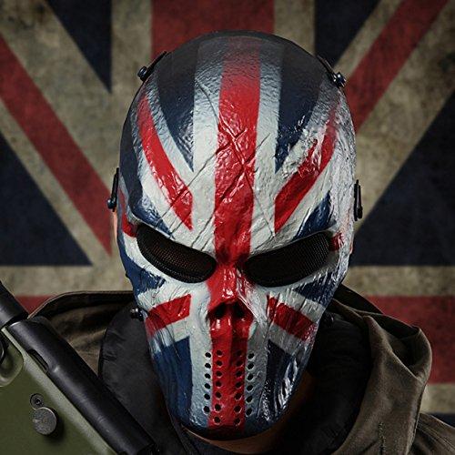 Draht Masche Goldene Terminator T800 Vollständige Gesicht Sicherung Maske für Airsoft Taktisches Halloween Paintball BB Gewehr CS Krieg Spiel Cosplay Außen Jagd (Airsoft Draht)