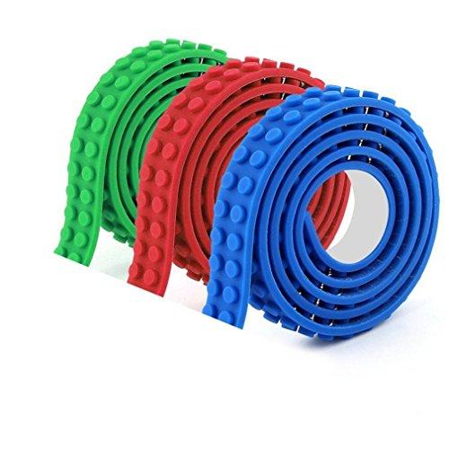i Sure cinta de bloque de construcción Compatible con Juguetes de Construcción de Lego Y La cinta viene en rollos compatibles con todas las principales marcas de juguetes de construcción de bloques(6 rolls)