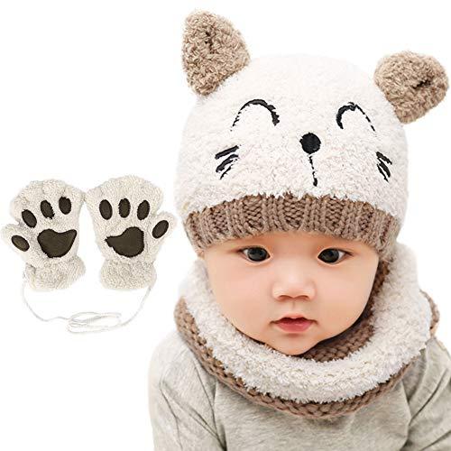 guantini neonato Bearbro Bambino Cappello Inverno