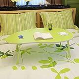 Klapptisch Einstellbar Kleiner Schreibtisch/Laptop-Tisch/Kinder Schreibtisch/Single Esstisch / 80 * 50 * 28CM Kann Gedreht Werden (Farbe : Grün)