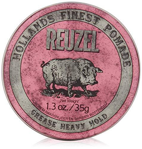 REUZEL Pomade Pink Grease Heavy Hold, 1er Pack (1 x 35 g)