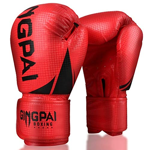 QJSTD 1 para Metall Farbe Kinder/Audlts Frauen Männer Boxhandschuhe Für Sandsack Punch Training Muay Thai Karate Kampf Mitts Deo 6-12 Unze,2Sred -