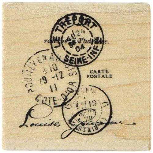 Unbekannt Inkadinkado Holz montiert Stempel 2Zoll x 2-inch-paper Artsy Tre 'PORT Post (Eine Zoll Schaum-blöcke)
