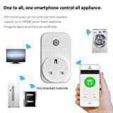 Hunpta WIFI Smart APP Remote Control Timer Socket UK Plug Home Automation (White)