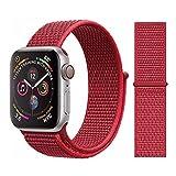 SLJIU Bracelet De Montre Bracelet en Nylon pour Bracelet Montre Apple 4/5 44Mm / 40Mm Correa pour Montre Apple 3 42Mm / 38Mm pour...