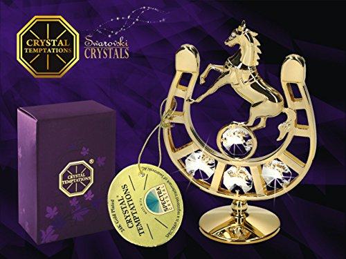 Germany crystal temptations–oro statuetta a forma di ferro di cavallo con cristalli swarovski