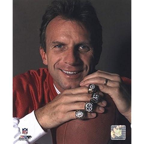 Joe Montana -4 anillos de Super Bowl Photo Print (20,32 x 25,40 cm)