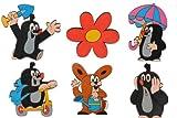 Unbekannt 6 tlg. Set Magnete / Wandsticker - der Kleine Maulwurf - Holz Kinder Kindermagnete z.B. für Kinderzimmer Kühlschrankmagnet