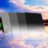 ZOMEi 100x150 mm ND Filtre Kit: ND2, ND4, ND8, ND16 Filtres de Gris Gradués