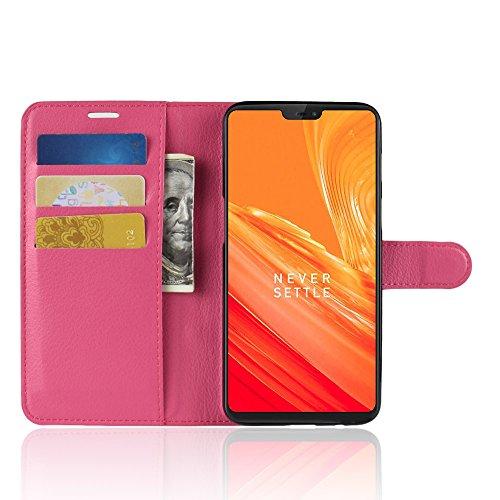 Funda   Capirotazo Billetera OnePlus 6  Rosa Roja