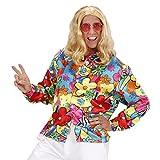 NET TOYS Buntes Hippiehemd Blumenhemd Herren XXL 56 Flower Power Hemd Hippie Kostüm Männer Schlagermove Outfit 60er 70er Jahre Kleidung