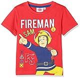 Sam le Pompier 174080, T-Shirt Garçon, Rouge (Rouge Rouge), Taille Fabricant: 4 Ans
