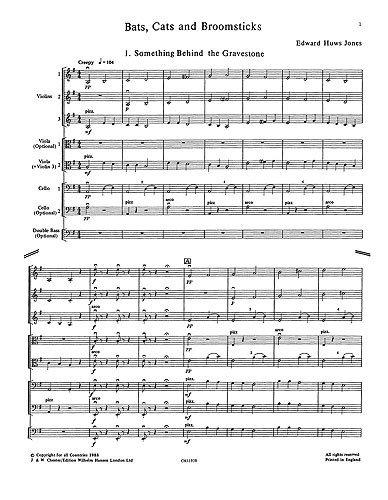 playstrings Nr. 15Fledermäuse, Katzen und fliegenden Bett (Huws Jones). Noten für Orchester, Ensemble, Streichorchester