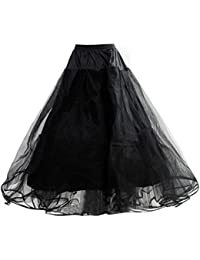 HIMRY Design Jupon de Mariée en Crinoline de Qualité, Jupon, 4 Couches, Taille Unique, Adéquat pour Taille 34, Taille 36, Taille 38, Taille 40, Taille 42, Taille 44, Noir, KXB-0011