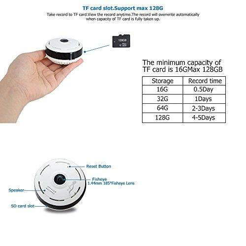 Mini IP Kamera 960P Panorama WiFi HD Zuhause Geschäft Sicherheit IP Videoaufnahme Nachtsicht - 3