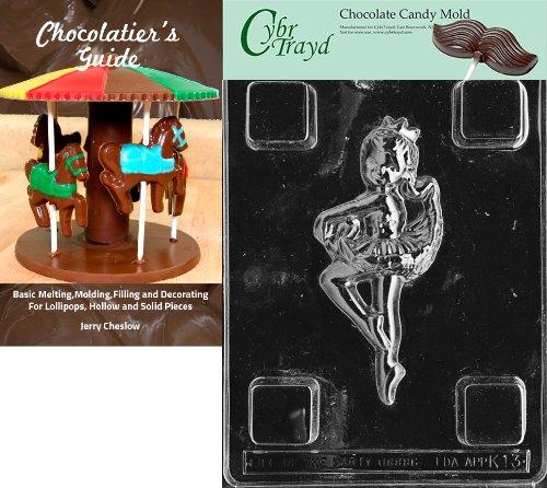 Ballerinas Schokolade (Cybrtrayd bk-k013Ballerina Kinder Schokolade Candy Form mit Chocolatier 's Guide Anweisungen Buch Handbuch)