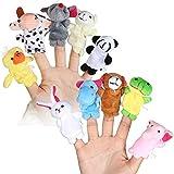 TRIXES 10 Marionetas de animales bebé surtidas