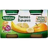 Blédina - Petits pots à la pomme et banane, dès 4 mois - Les 4 pots de 130g - (pour la quantité plus que 1 nous...